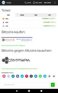 Screenshot unserer Startseite :-)